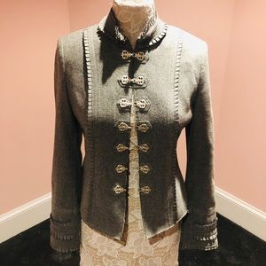 Awesome wool jacket with buckles